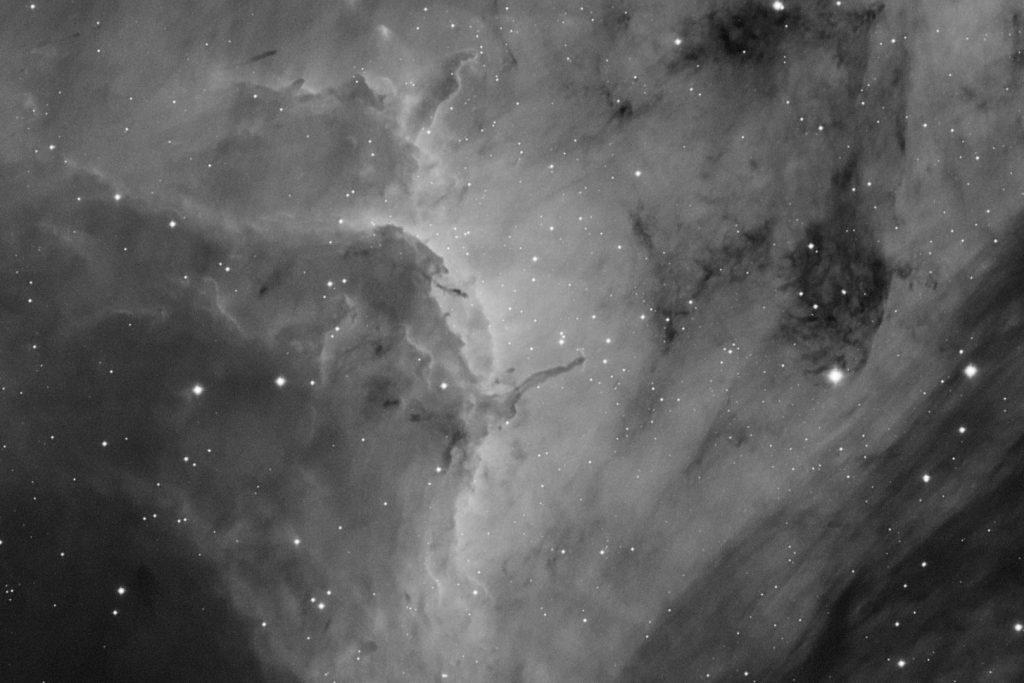 Star forming region in Pelican nebula