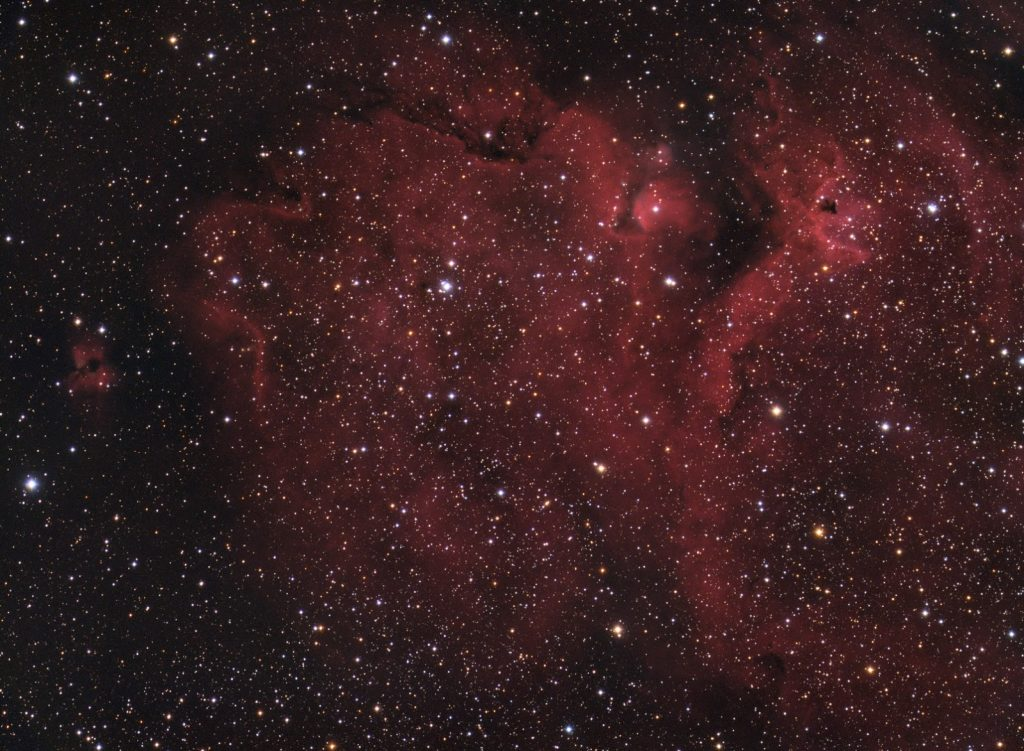 Soul nebula in RGB