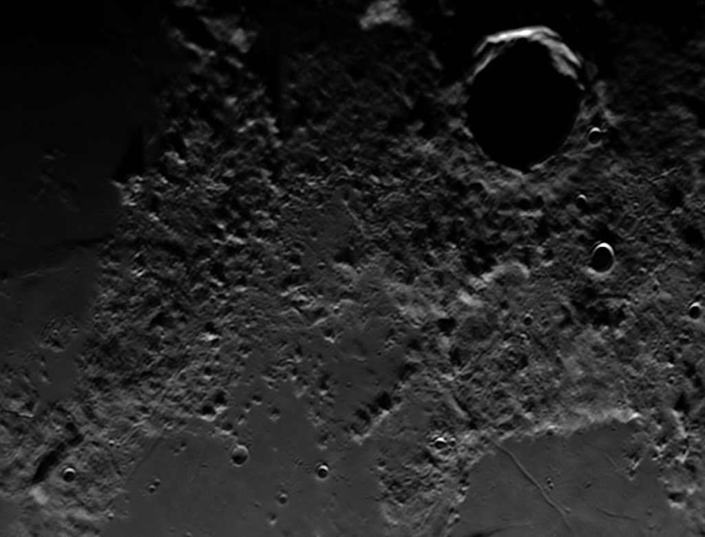 Bumpy area under Eudoxus crater