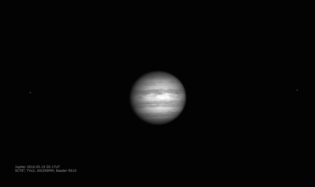 Jupiter with two moons