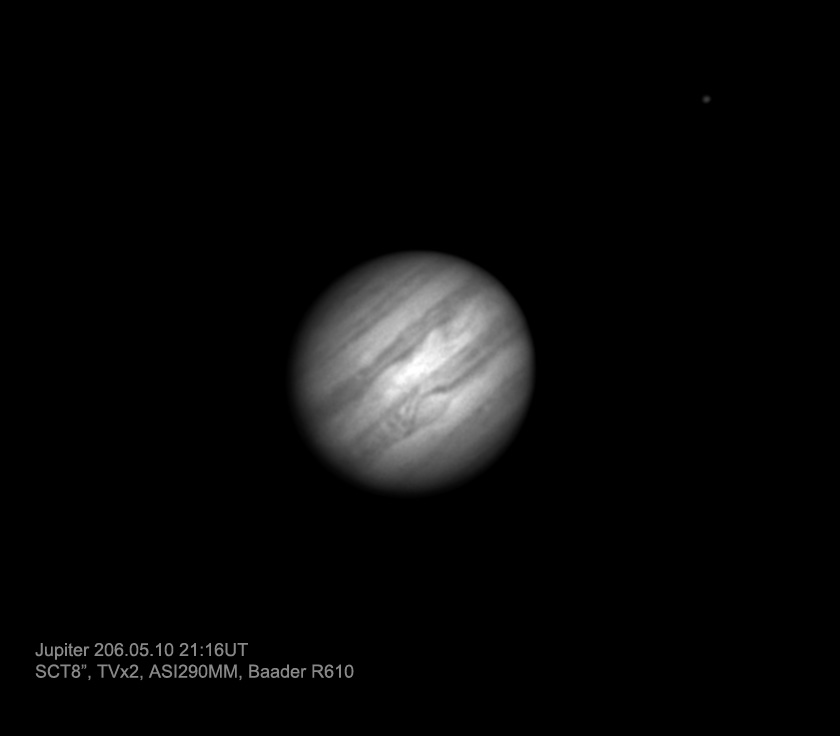 Jupiter - first light of camera