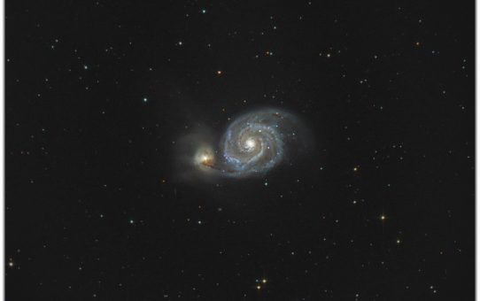 Whirlpool galaxy now and two centuries ago
