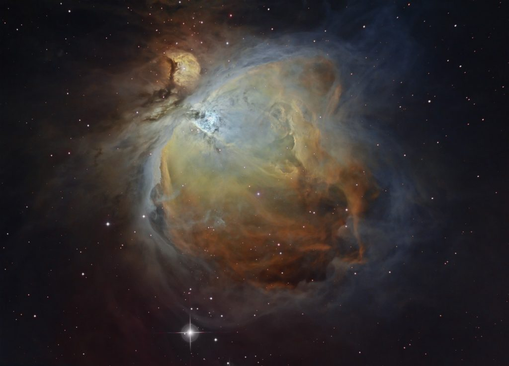 M42 Orion Nebula in narrowband palette