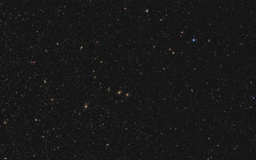 Virgo Galaxy Cluster wide field image