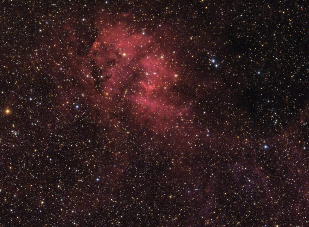 Sh2-132 Lion nebula - HaRGB composite