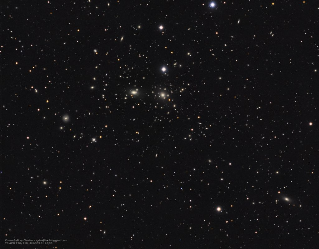 Abell 1656 Coma Cluster, 580 minutes LRGB