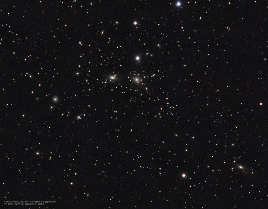 Coma Cluster, 580 minutes LRGB