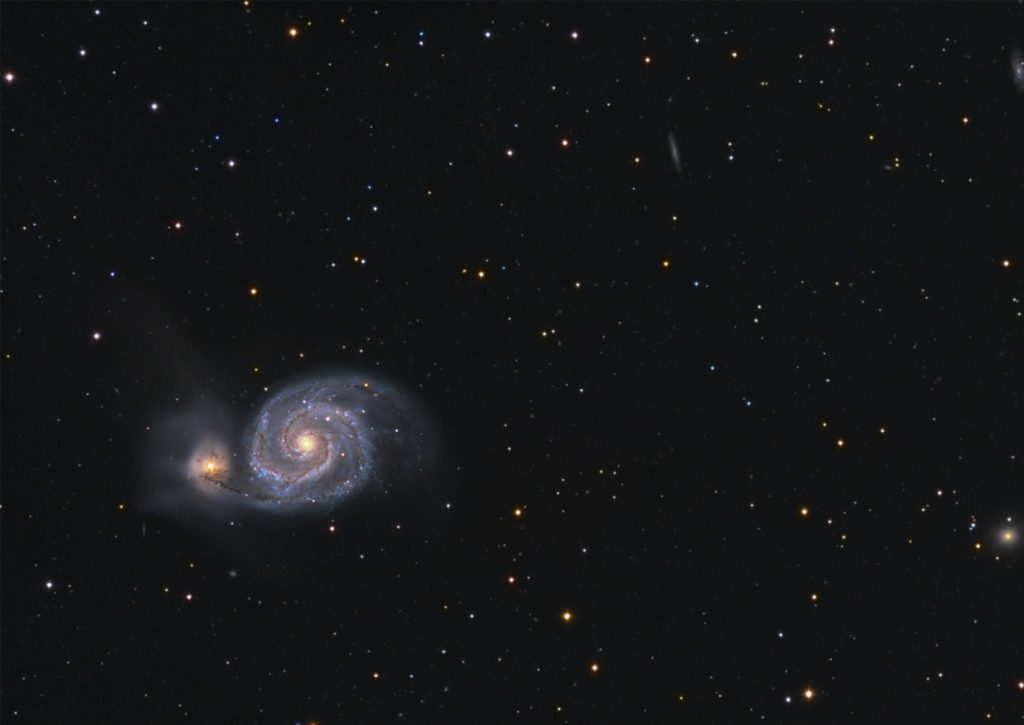 M51 Whirlpool galaxy - close up