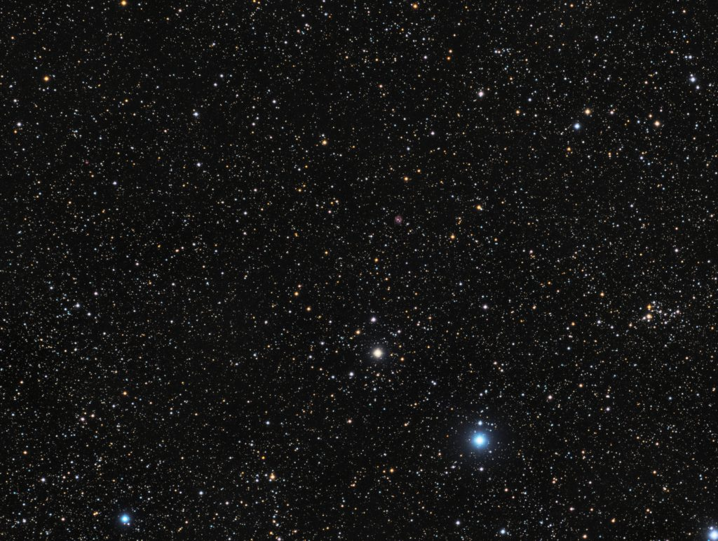 NGC7234 open cluster and Mi2-51 plus Mi2-52 planetary nebulae