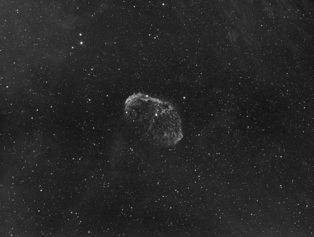NGC6888 single 600s shot with Baader Ha filter. GAIN=0