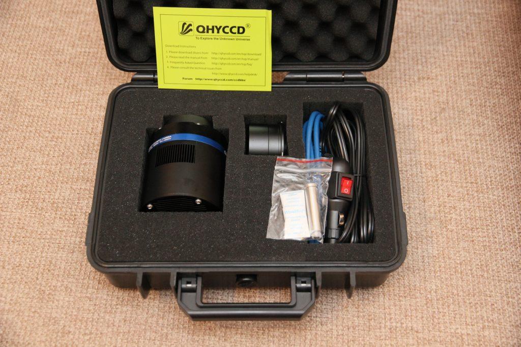 "Pelicase content - camera, cables, dessicant, 2"" adapter"