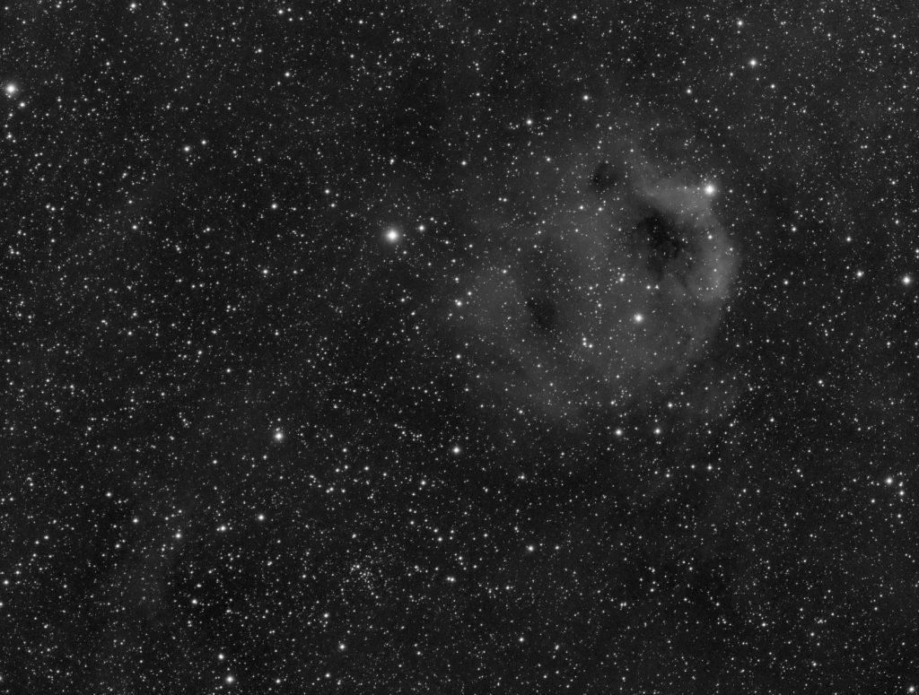 Sh2-173 emission cloud, 32x15 minutes exposure, Ha band