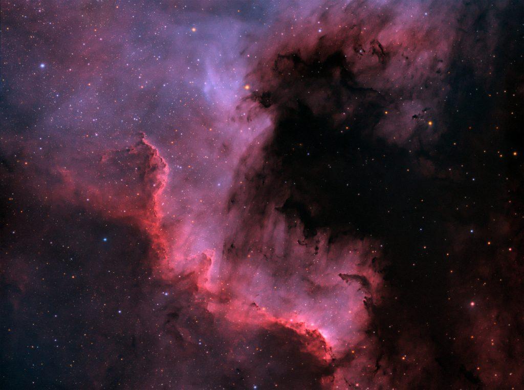 Cygnus Wall, 6x10 minutes Ha, 6x10 minutes Oiii, 3x8x2 minutes RGB