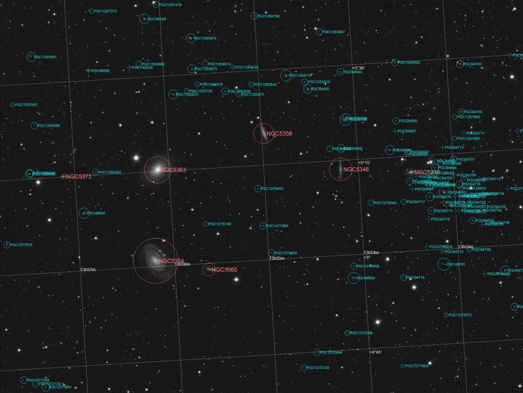 NGC5364 galaxy area annotated