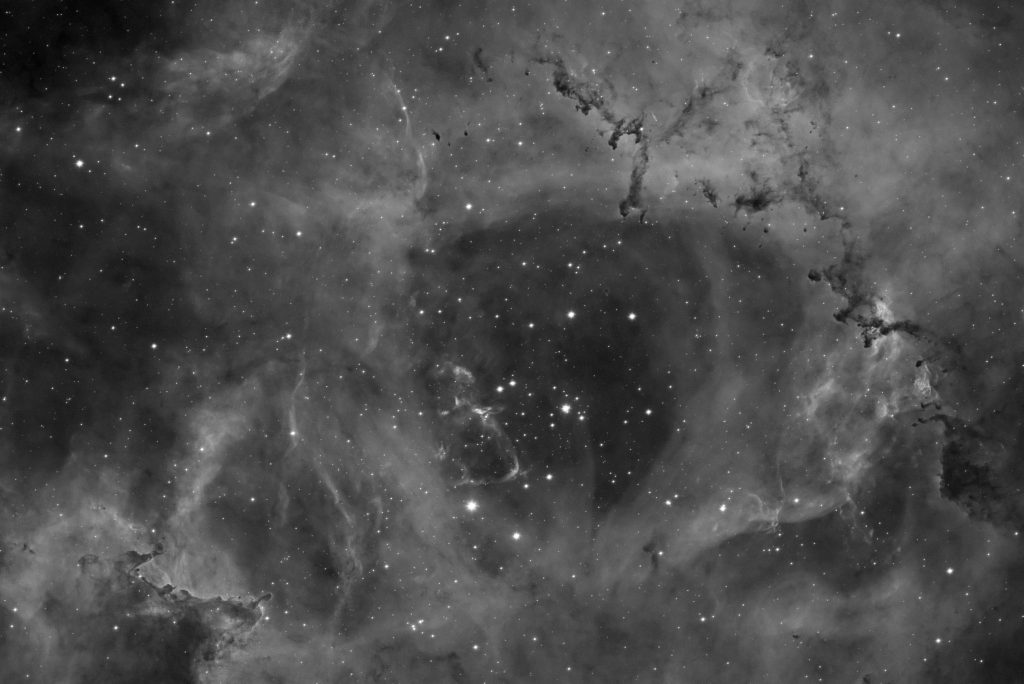 Rosette nebula center in Ha band