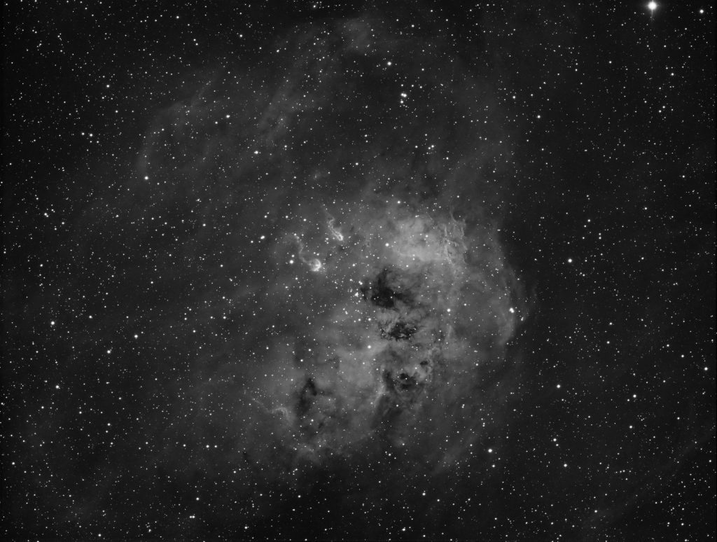 Tadpoles in IC410 nebula. 40x10 minutes exposures