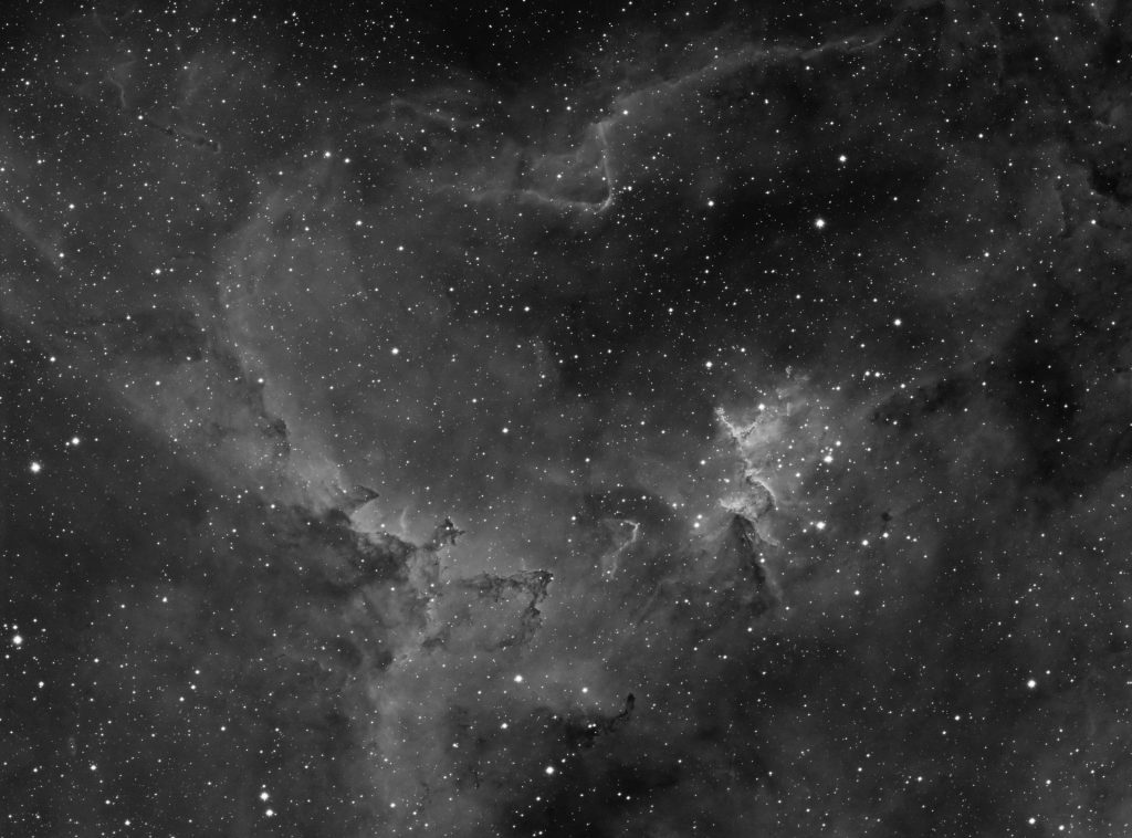 Center of IC1805 Hear nebula - Melotte 15 cluster. 50x10 minutes exposure