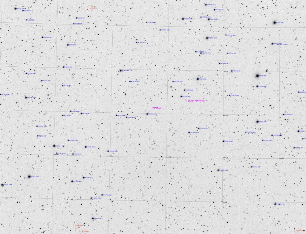 V0799 Aur starfield