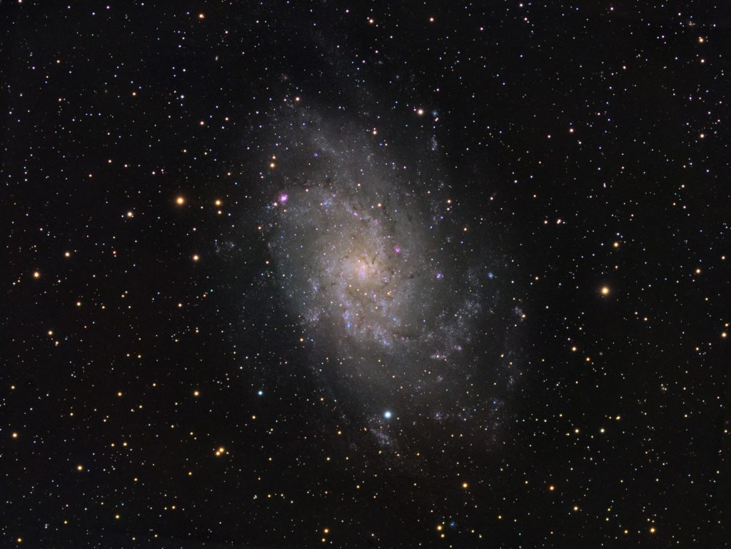 M33 spiral galaxy in Triangulum