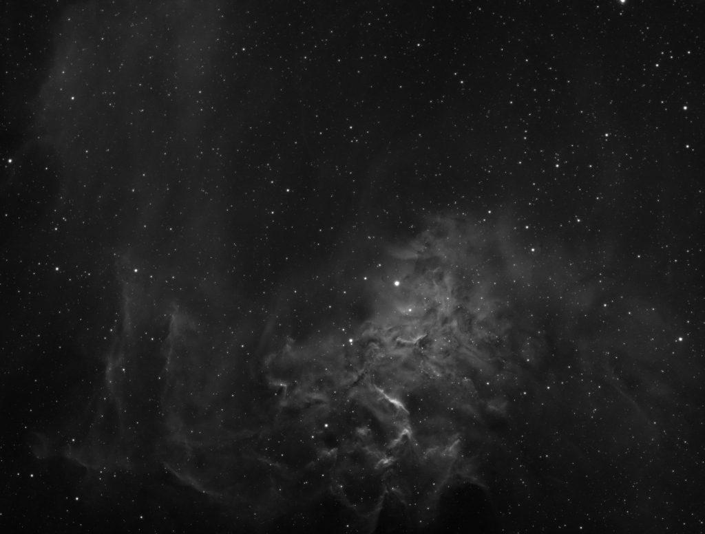 IC405 Flaming Star nebula - hydrogen alpha channel
