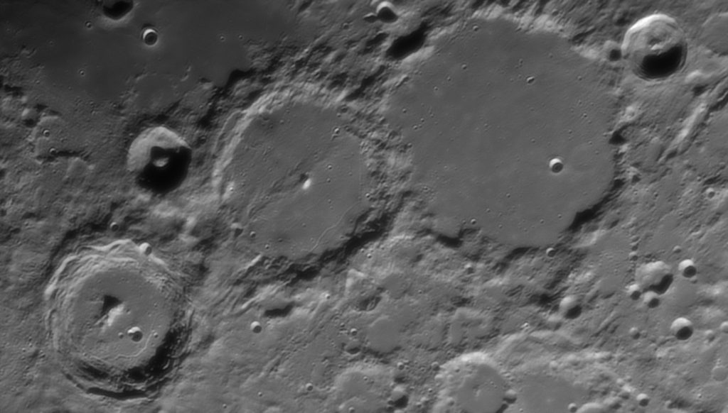 Ptolemaeus (largest in the frame) crater region