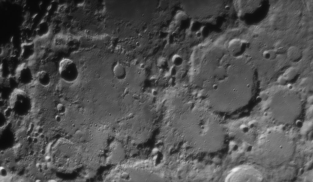 Deslandres crater (large at left) and its neighbours
