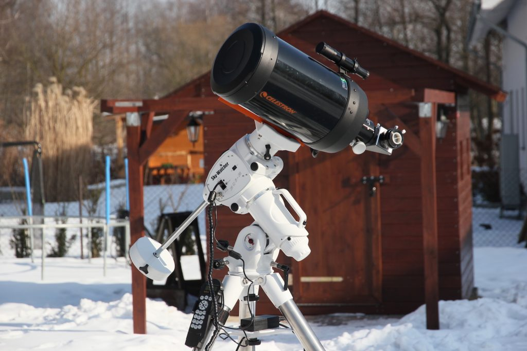 EQ6-R mount loaded with C8 scope