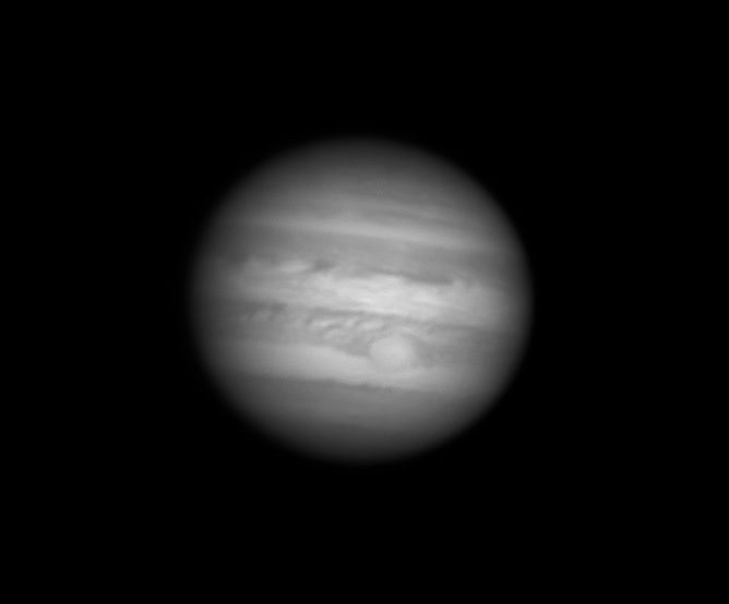 """Jupiter on May, 17th. SCT 8"""", ASI290MM, Baader R filter"""