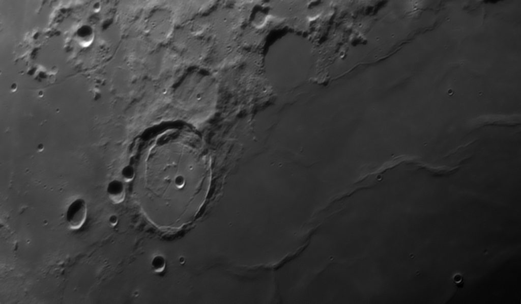 Posidonius Moon crater area
