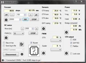 AstroLink panel software