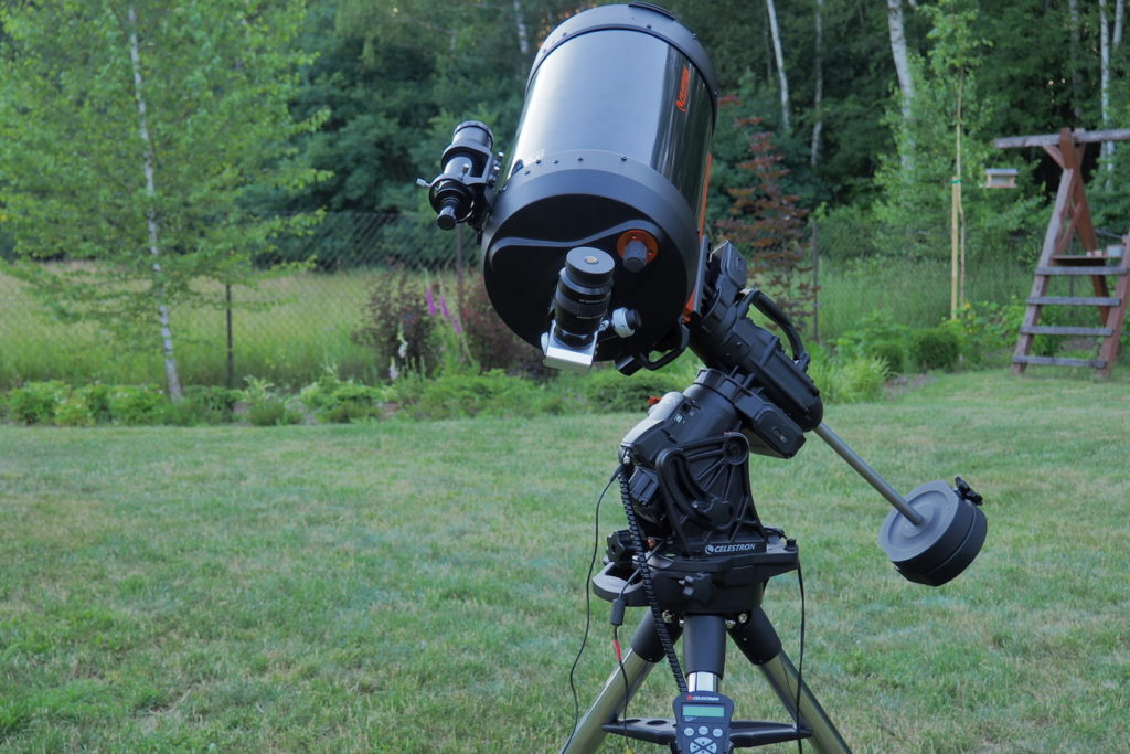"Celestron CGX mount with SCT 11"" tube attached"