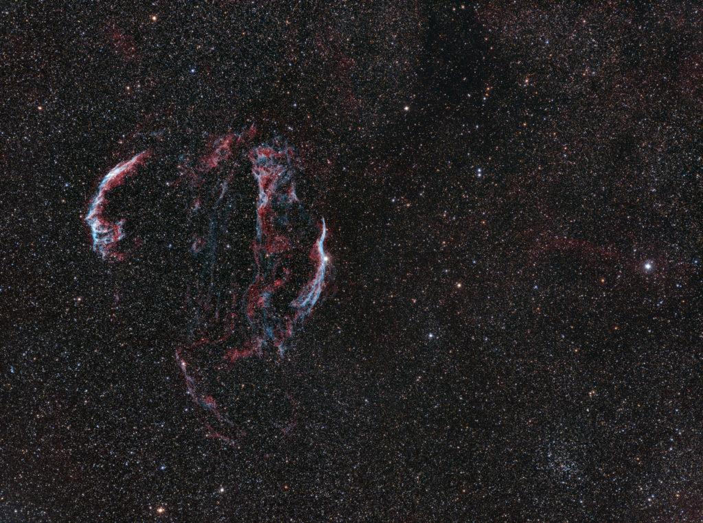 Veil nebulae complex in Cygnus