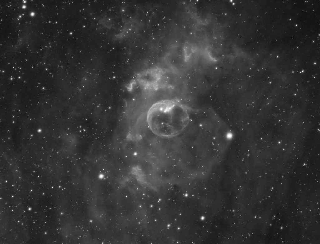 NGC7635 Bubble Nebula close up