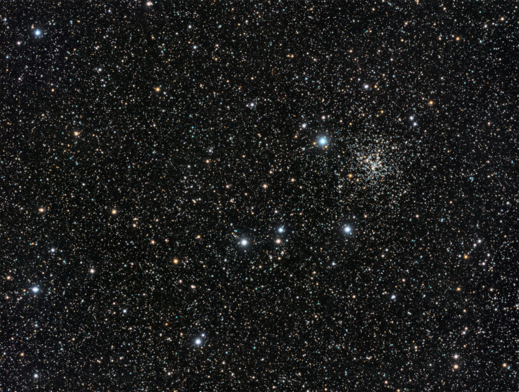 NGC6819 Fox Head open cluster in Cygnus