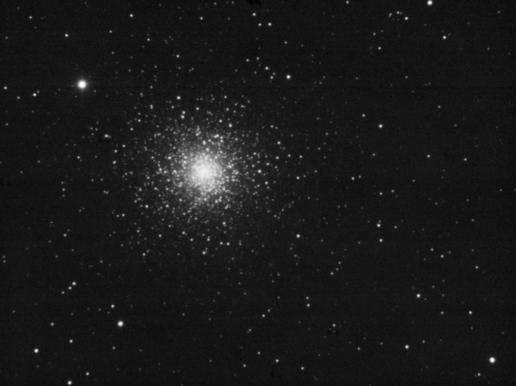 100x3 seconds stack of M15 cluster. Stretched, no further processing