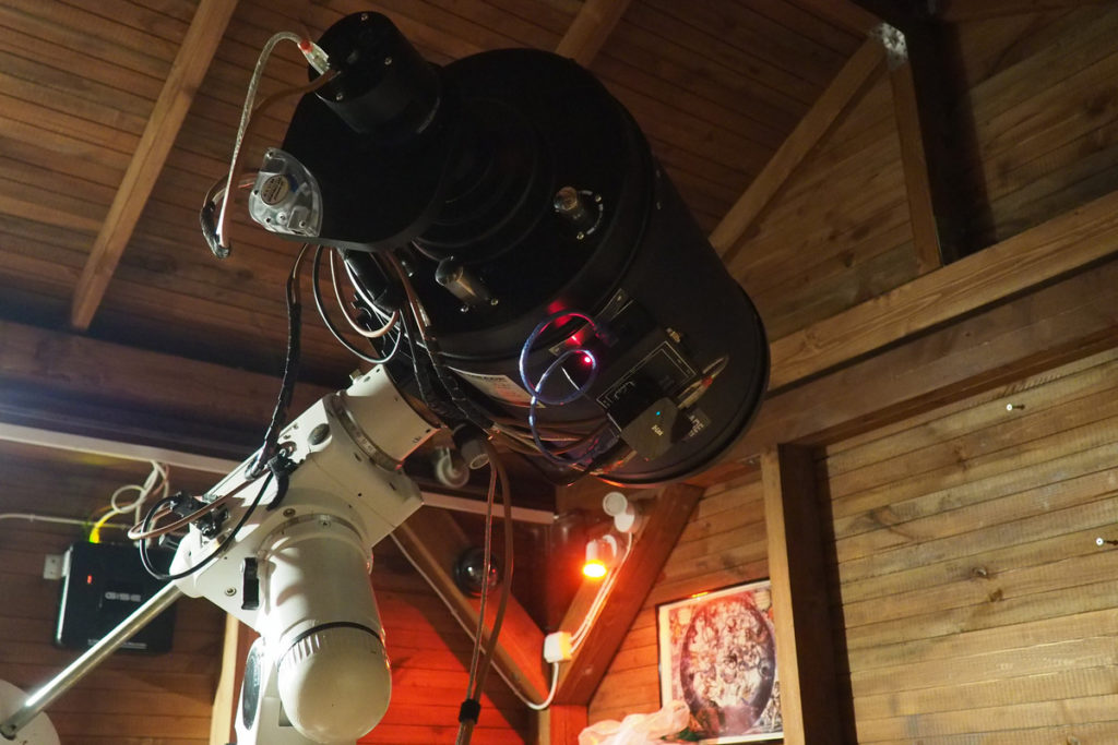 "Meade ACF 10"" in position"