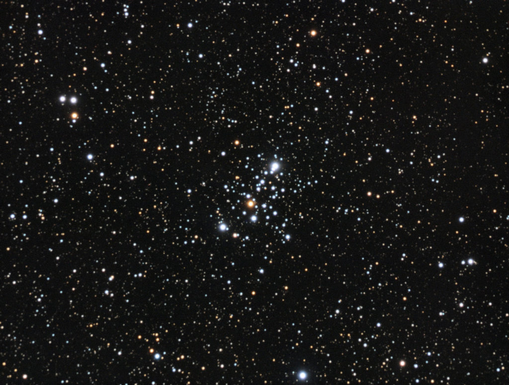 M103 open cluster. 3x10x2 minutes RGB composition