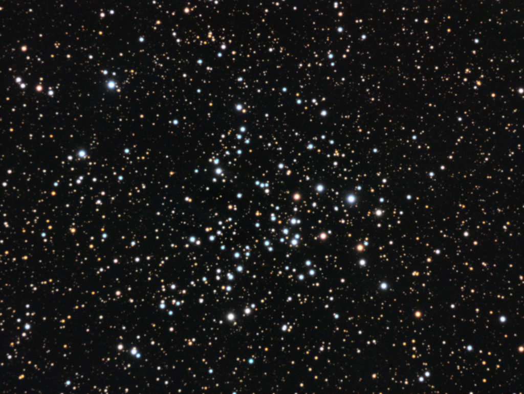 NGC1528 open cluster. LRGB composite 30x2 + 3x10x2 minutes