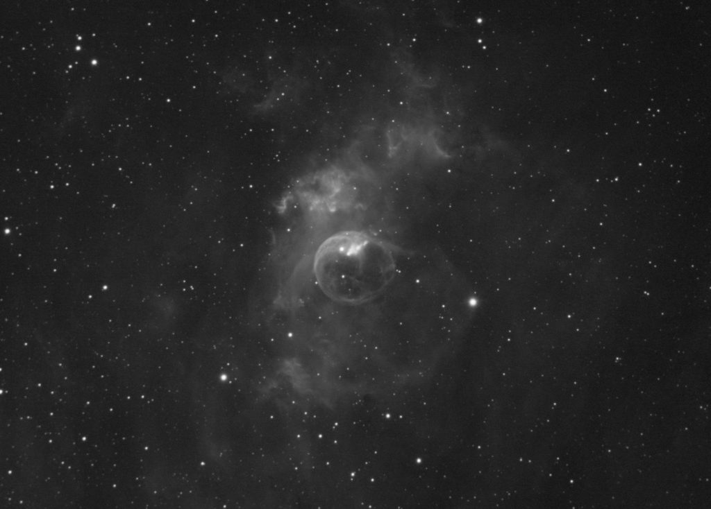 NGC7635 Bubble nebula. 8x5 minutes with Ha filter