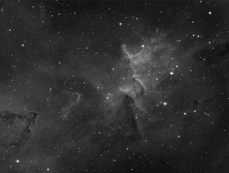 Melotte 15 star cluster in IC1805 Heart nebula - guided image