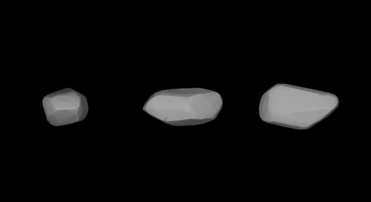 (367) Amicitia asteroid shape calculated based on its lightcurves (source: wikipedia)