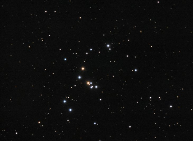 NGC1662 open cluster in Orion