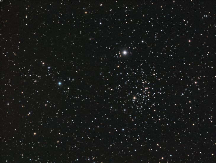 NGC2355 old open cluster in Gemini