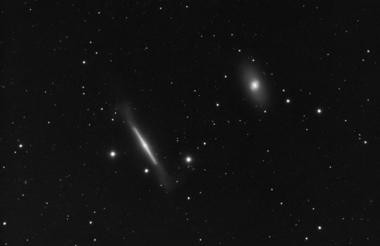 NGC4762 and 4754 lenticular galaxies