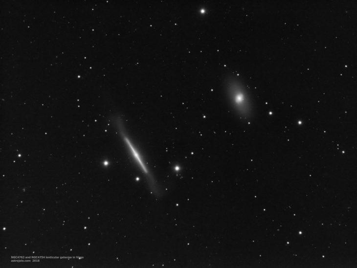 NGC4762 and NGC4754 lenticular galaxies pair