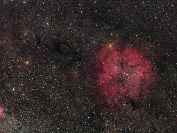 IC1396 nebula in Cepheus - wide field image.