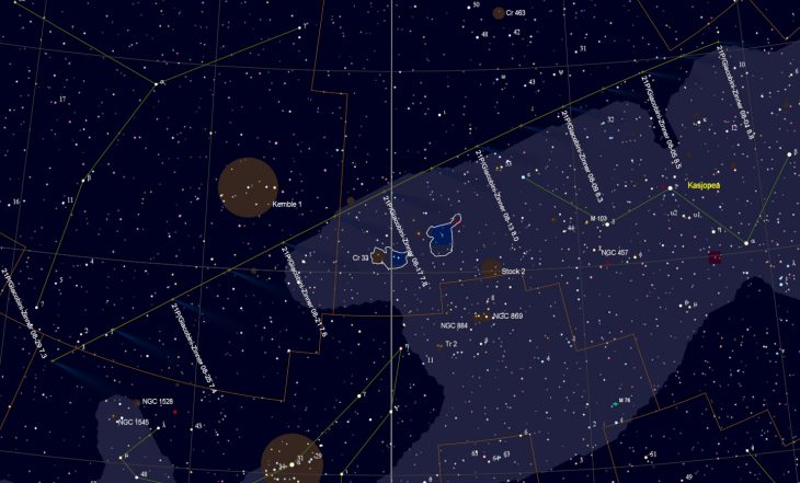 Comet 21P path in August