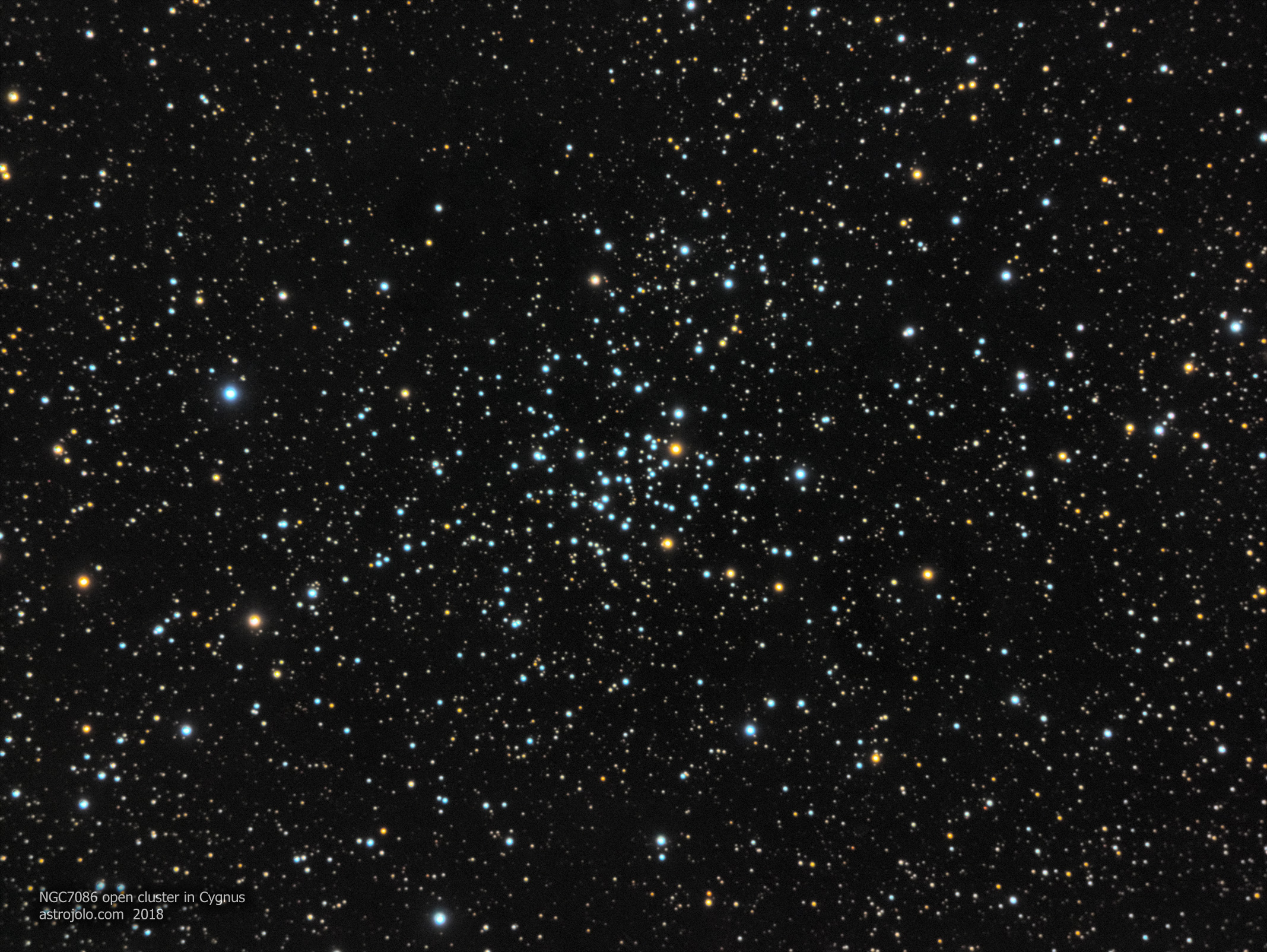 NGC7086 open cluster