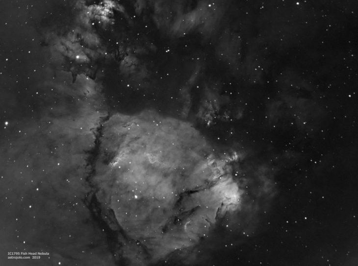 IC1795 nebula in hydrogen alpha band