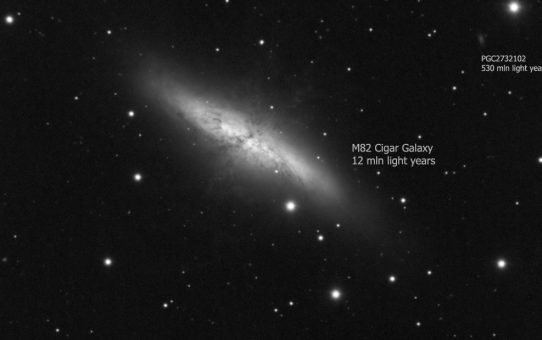 Distant clusters around M82